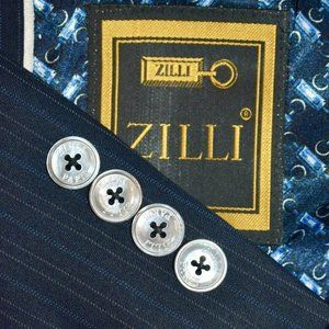 40S ZILLI Navy Blus Striped MOP SUIT